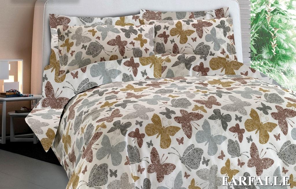 Gipetex Natural Dream Italské povlečení 100% bavlna Farfale béžová - 140x220cm / 70x90cm