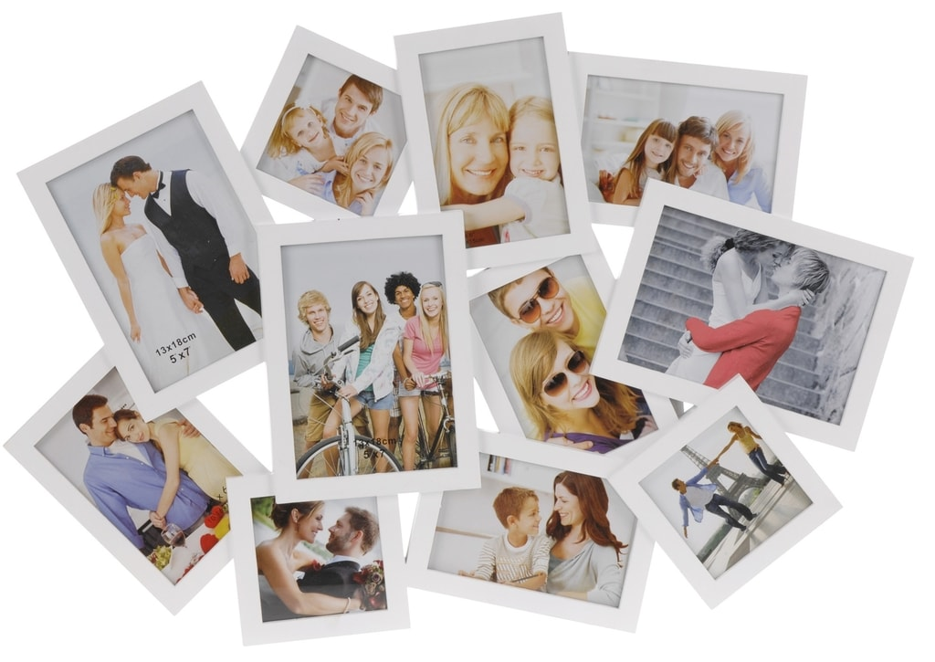 Home collection Rám na 11 fotek 64x44cm bílá