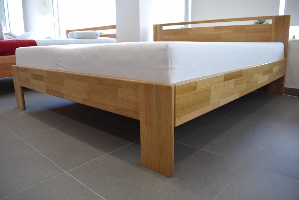 Oak´s Dubová postel Nyborg dub cink, přírodní moření, vodní lak - 140x200 cm