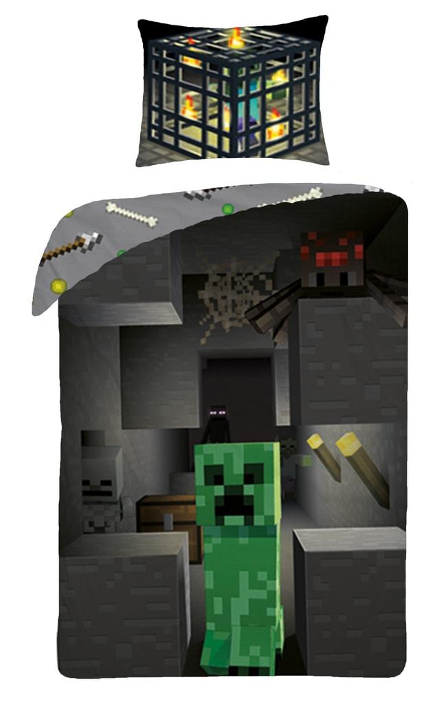 Halantex Halantex povlečení Minecraft 021BL 140x200cm + 70x90cm