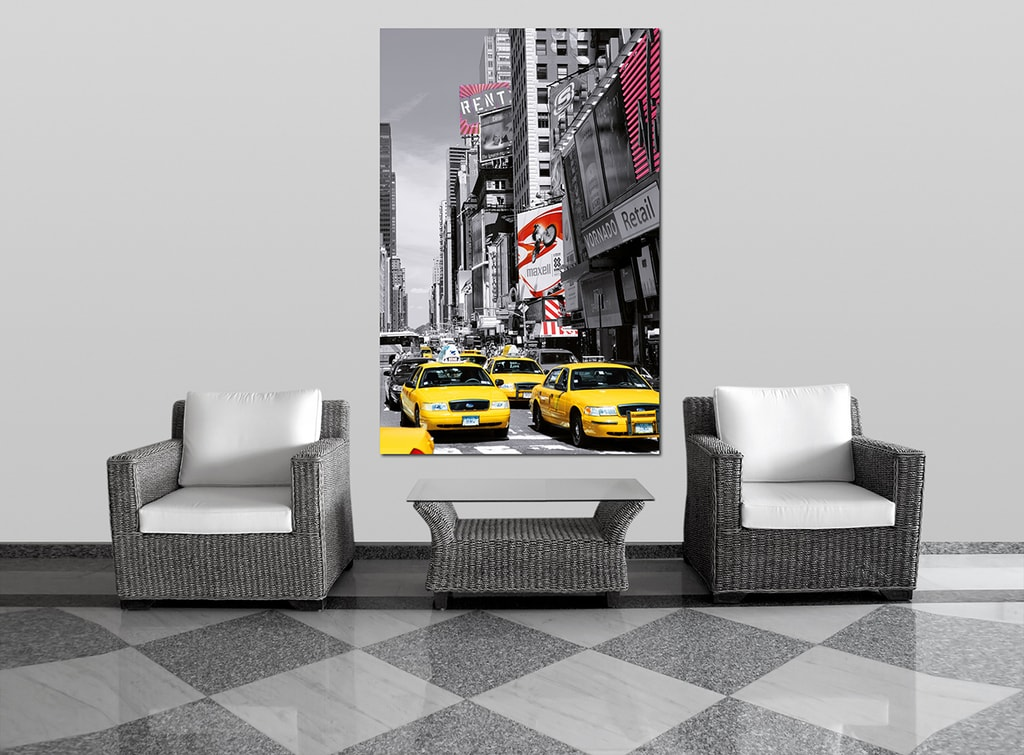 Wizard+Genius W+G Giant Art® Times Square taxi 115x175 cm