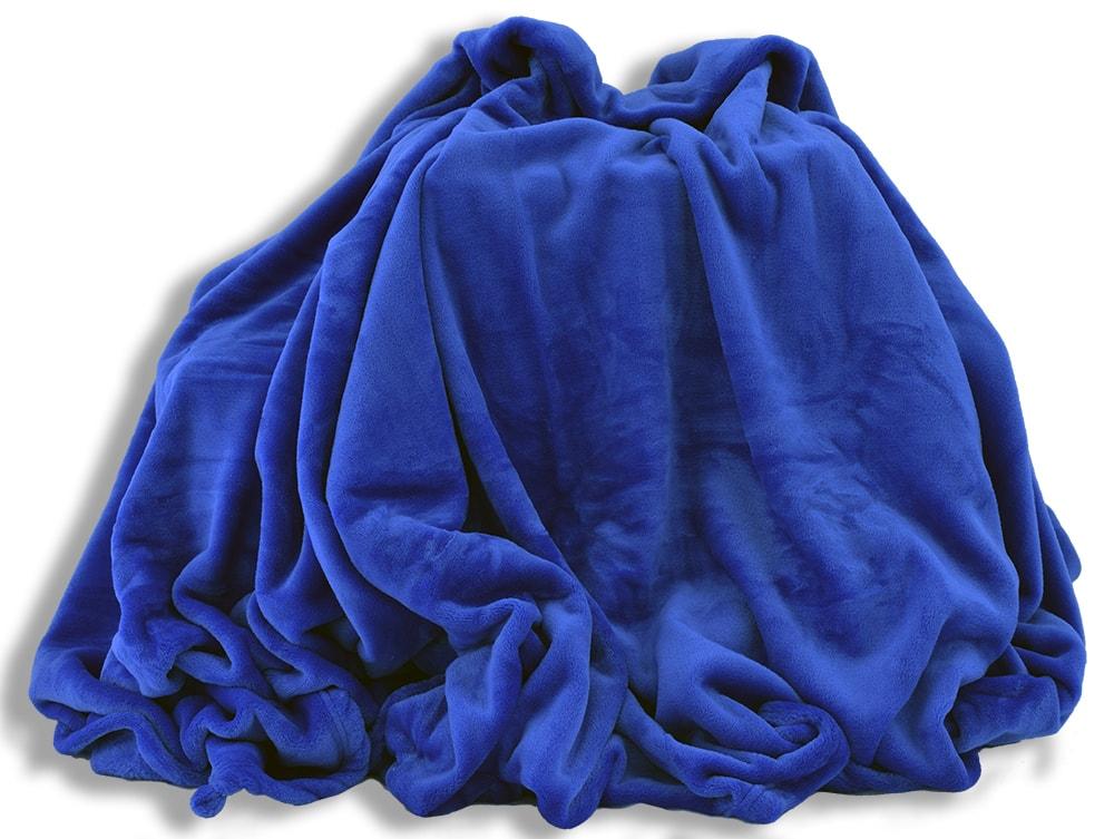 Homeville Homeville deka mikroplyš 150x200 cm modrá