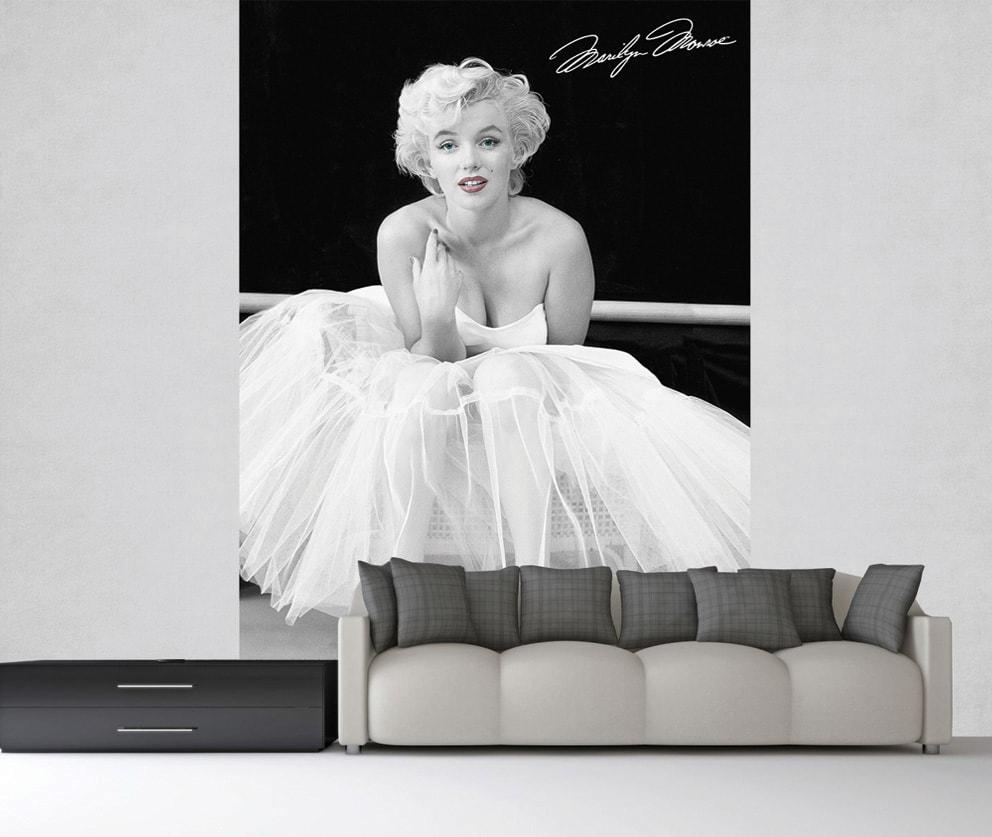 1Wall 1Wall fototapeta Marilyn Monroe ČB 158x232 cm