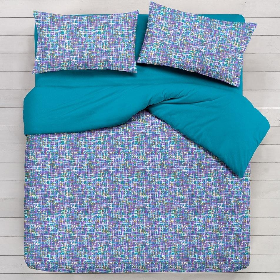 Gipetex Natural Dream Italské povlečení bavlna LUX Venere tyrkysová - 140x220cm / 70x90cm