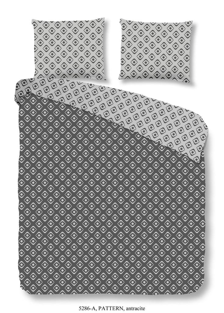 Good Morning 3D povlečení Good Morning 100% bavlna Pattern Antracite - 200x200-220 / 2x60x70 cm