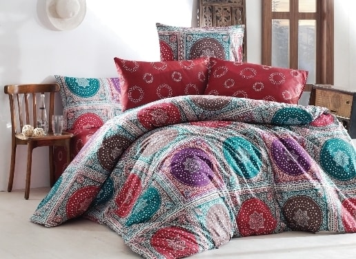 Homeville Povlečení 100% bavlna Isabella se dvěma povlaky na polštář - 140x220 / 50x70+70x90