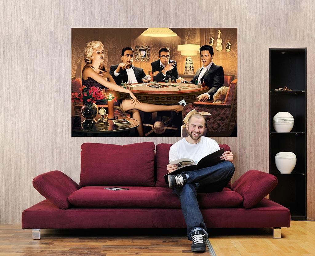 Wizard+Genius W+G Giant Art® Slavní hráči 175x115 cm