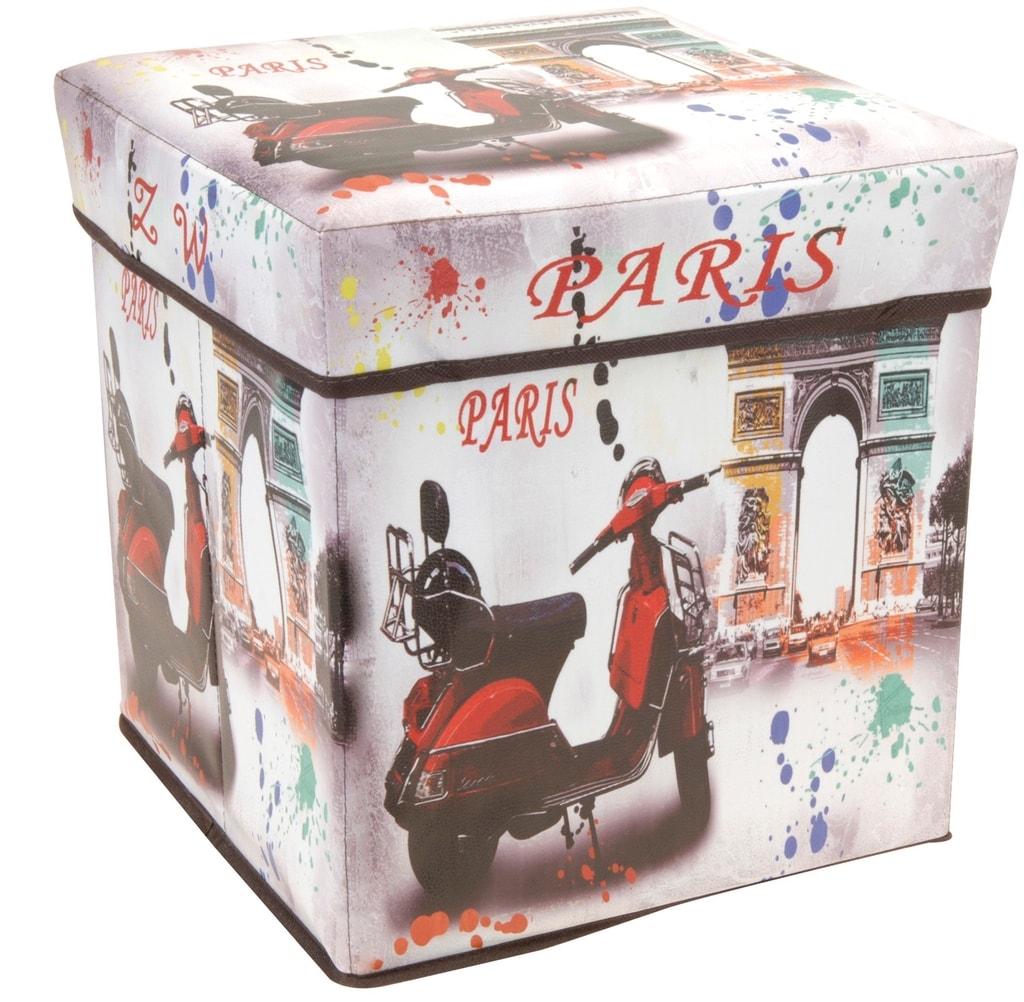 Home collection Skládací box / taburet Paříž 30x30x30cm
