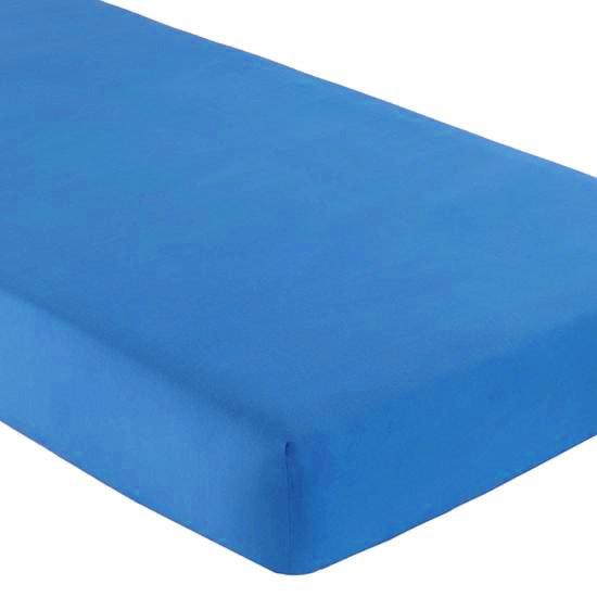 Gipetex Natural Dream Italské prostěradlo s gumičkou 100% bavlna středně modrá v.25cm - 90x200 cm