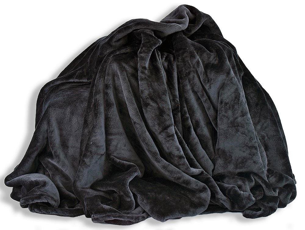 Homeville Homeville deka mikroplyš 150x200 cm černá