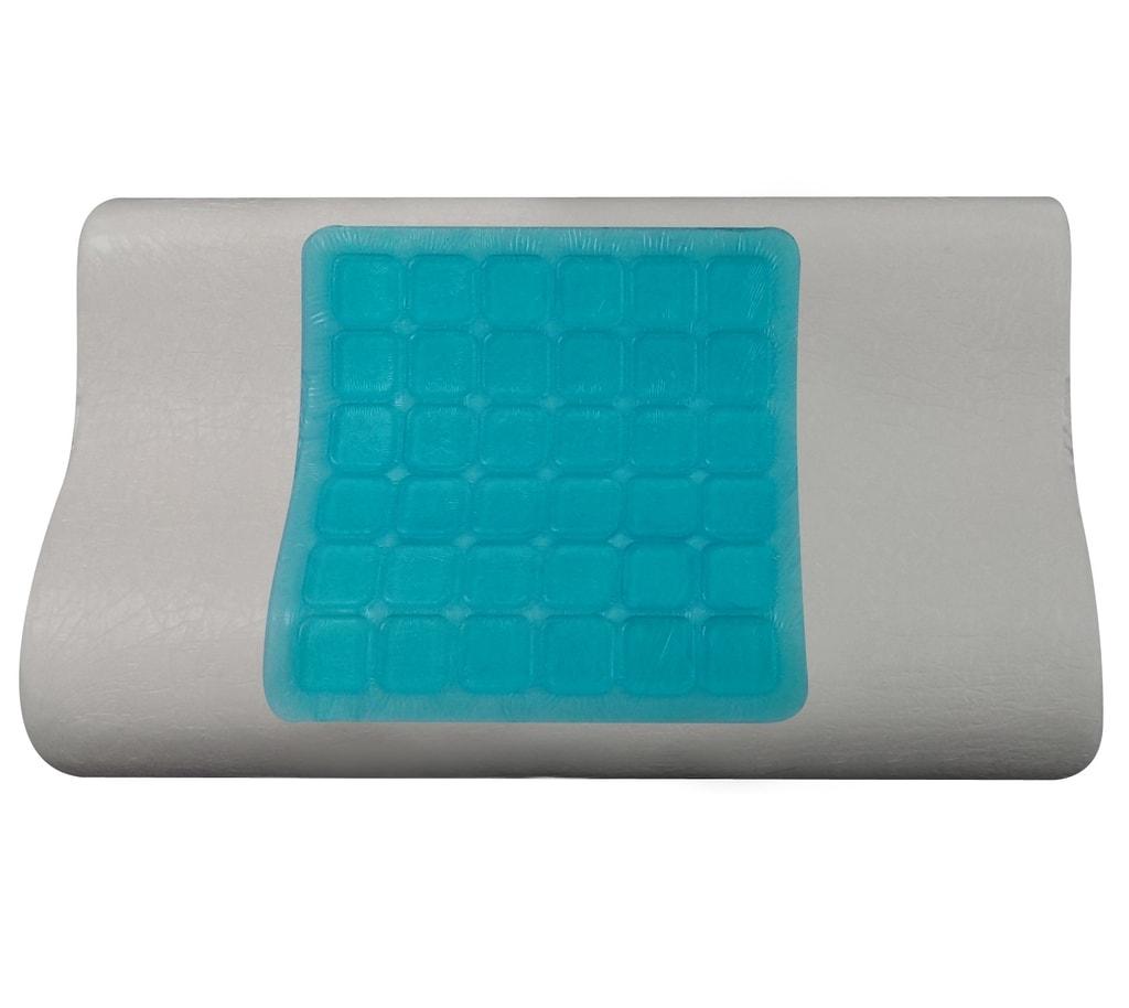 VISCOPUR Anatomický polštář VISCOPUR® COOL GEL s gelovou vrstvou profilovaný - 30x50 cm | 1+1 zdarma (2ks)