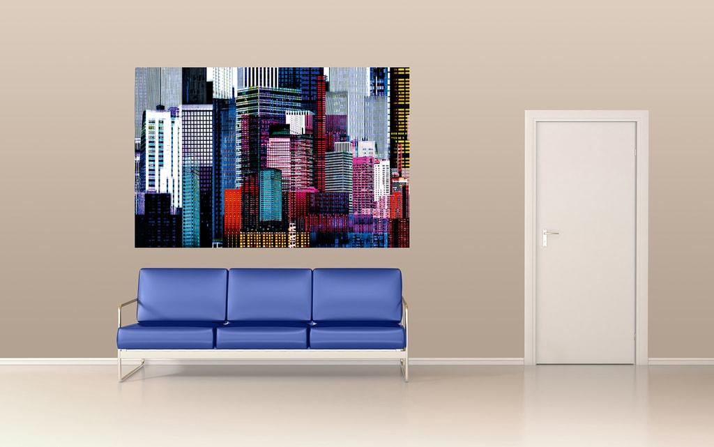 Wizard+Genius W+G Giant Art® Barevné mrakodrapy 175x115 cm