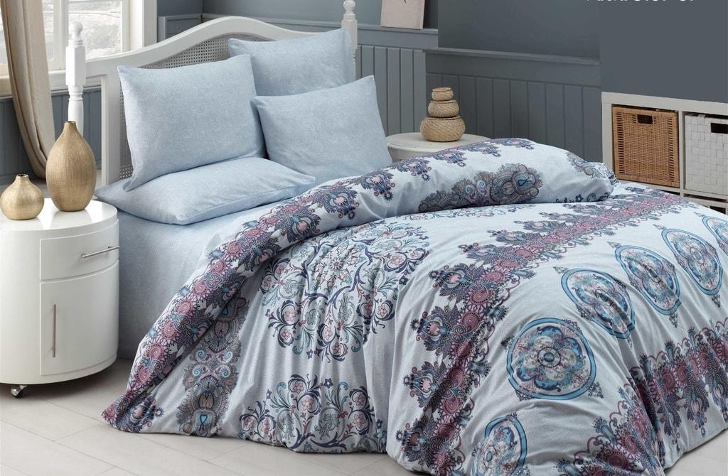 Homeville Povlečení 100% bavlna Alexi se dvěma povlaky na polštář - 200x220 / 2x50x70 + 2x70x90