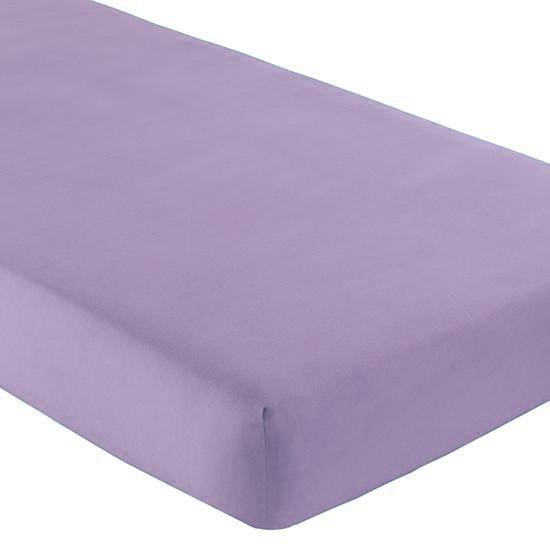 Gipetex Natural Dream Italské prostěradlo s gumičkou 100% bavlna fialová v.25cm - 90x200 cm