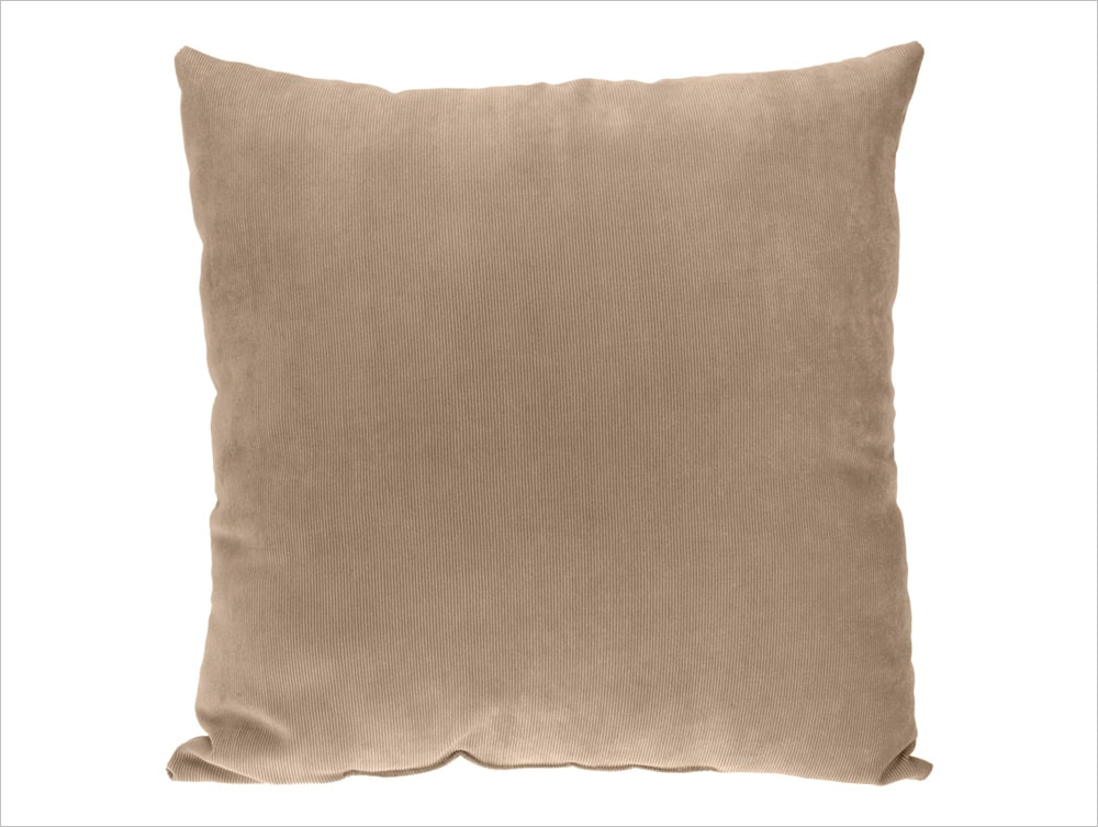 Home collection Dekorační polštářek manšestrový 45x45 cm - Béžová