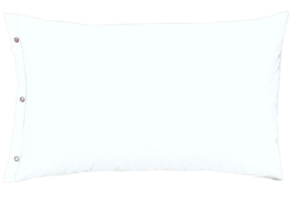 Gipetex Natural Dream Povlak na polštář italské výroby 100% bavlna - 2 ks bílá - 2 ks 70x90 cm