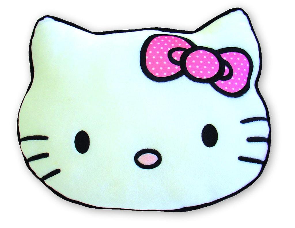 CTI Kulatý polštářek Hello Kitty 3D Kitten hlava 40x30cm