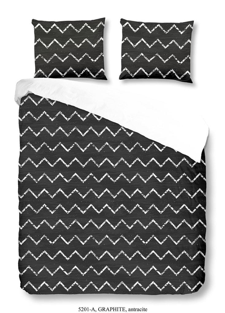 Good Morning 3D povlečení Good Morning 100% bavlna Graphite Antracite - 200x200-220 / 2x60x70 cm