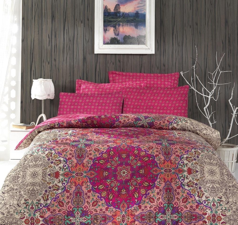Cottonbox Cottonbox povlečení bavlněný satén Pink Orient - 220x200 / 2x70x90 cm