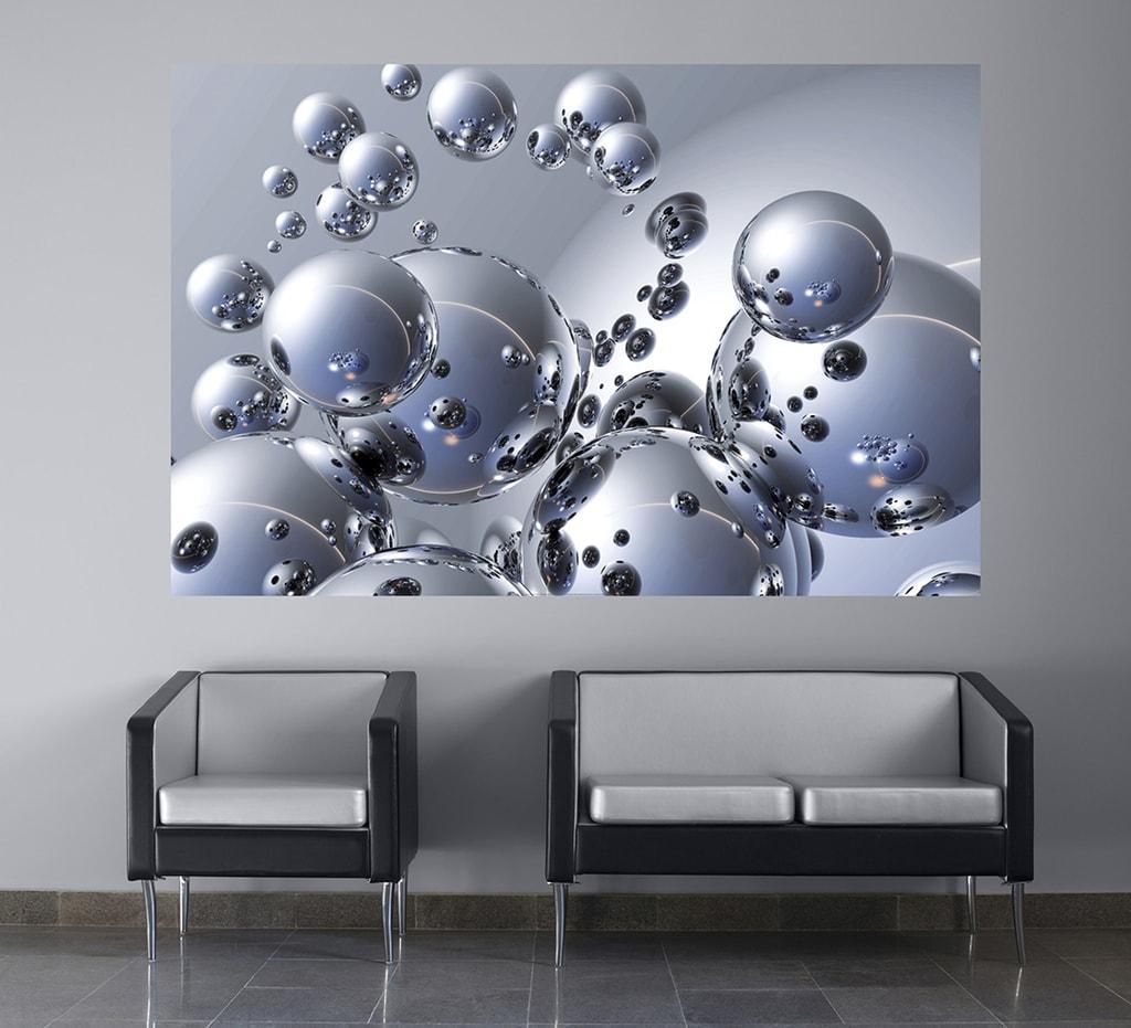 Wizard+Genius W+G Giant Art® Stříbrné koule 175x115 cm