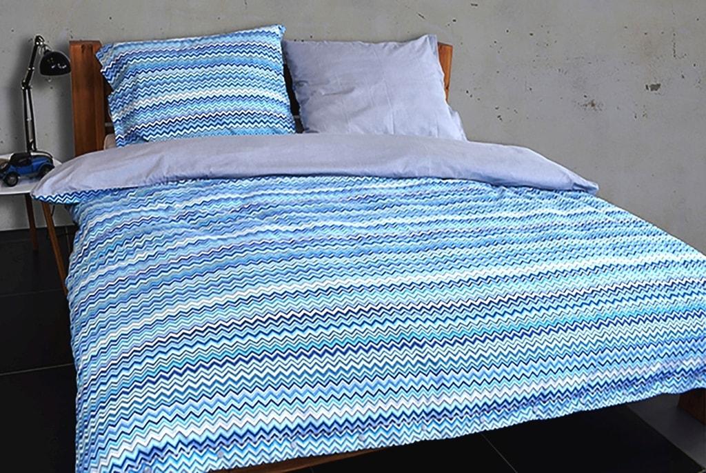 Gipetex Natural Dream Flanelové povlečení BAIA modrá - 140x200cm / 70x90cm