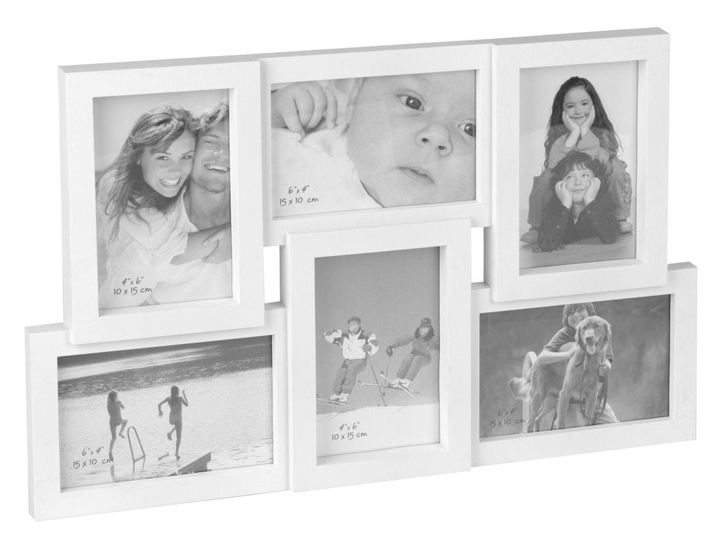 Home collection Rám na 6 fotek 45,5x29cm bílá