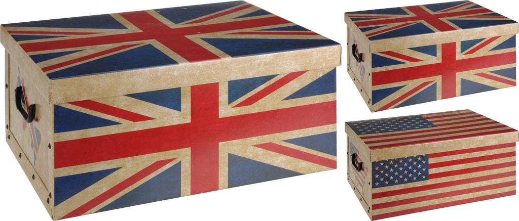 Home collection Úložné krabice Vlajky 51x37x24cm - Americká vlajka