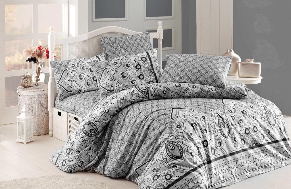 Homeville Povlečení 100% bavlna Pinnacles se dvěma povlaky na polštář - 200x220 / 2x50x70 + 2x70x90