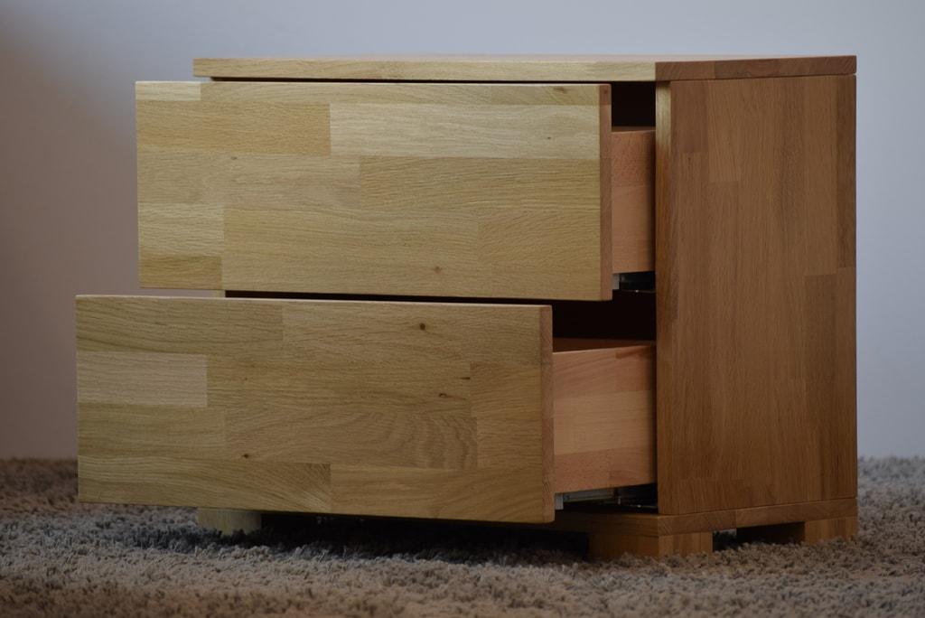 Oak´s Noční stolek Lemvig dub cink, přírodní moření