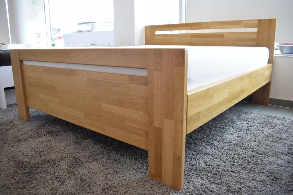 Oak´s Dubová postel Skanderbörg dub cink, přírodní moření, vodní lak - 200x200 cm