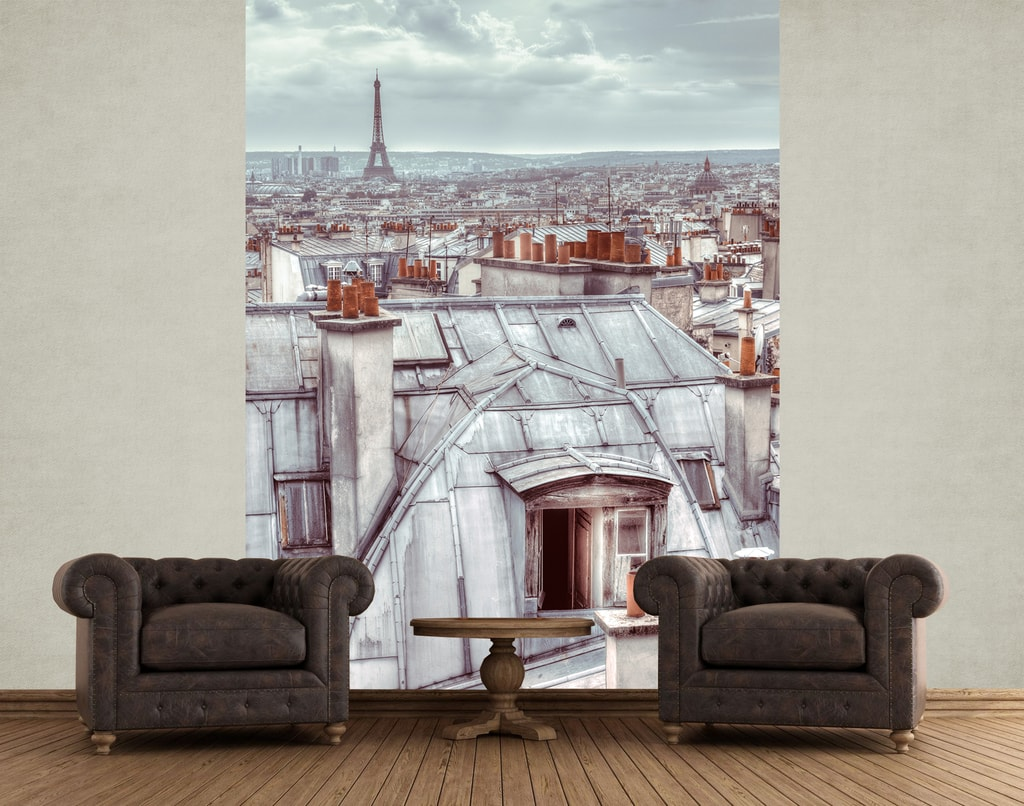 1Wall 1Wall fototapeta Střechy Paříže 158x232 cm