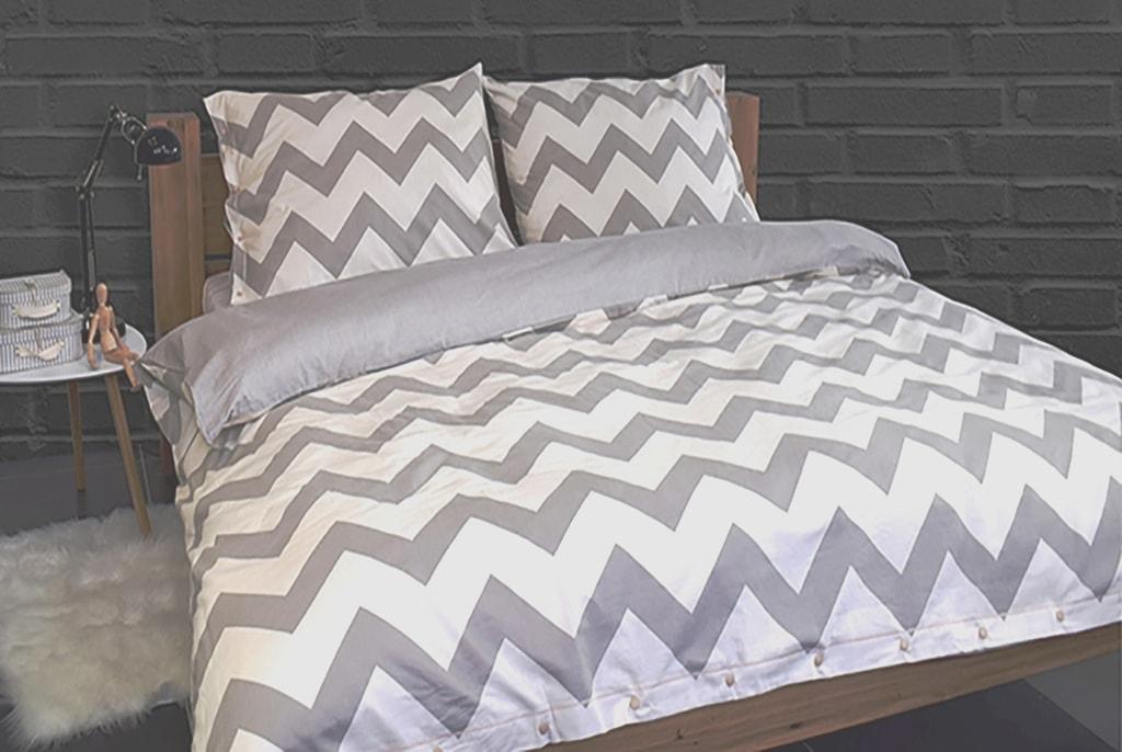 Gipetex Natural Dream Italské povlečení 100% bavlna LUX Chevronne béžová - 140x220cm / 70x90cm