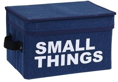 Home collection Úložný box s víkem - modrá - Small things 16x24x16 cm