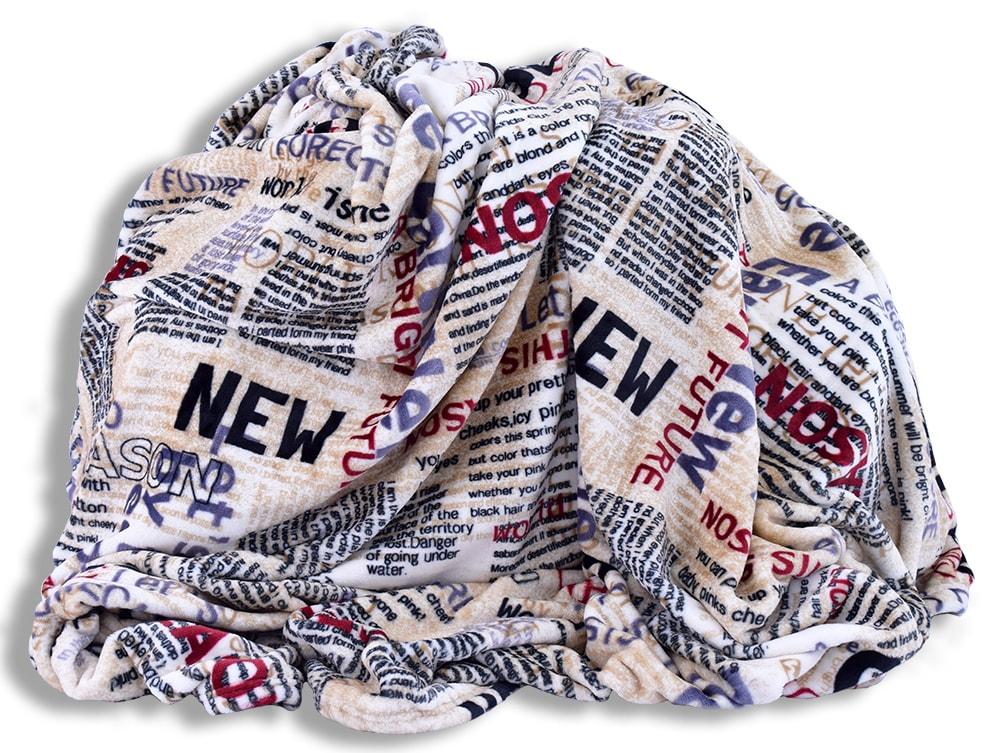 Homeville Homeville deka mikroplyš 150x200 cm novinové články