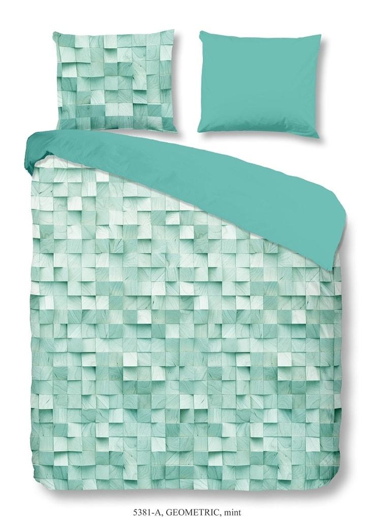 Good Morning 3D povlečení Good Morning 100% bavlna Geometric Mint - 200x200-220 / 2x60x70 cm