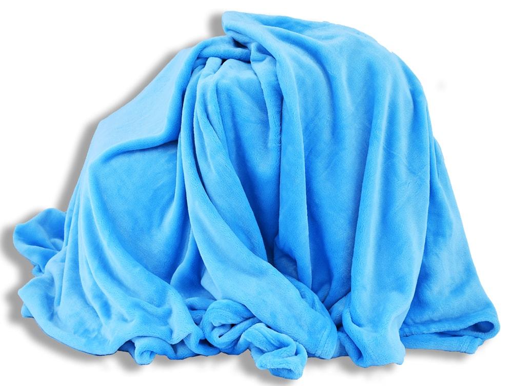 Homeville Homeville deka mikroplyš 150x200 cm tyrkysová