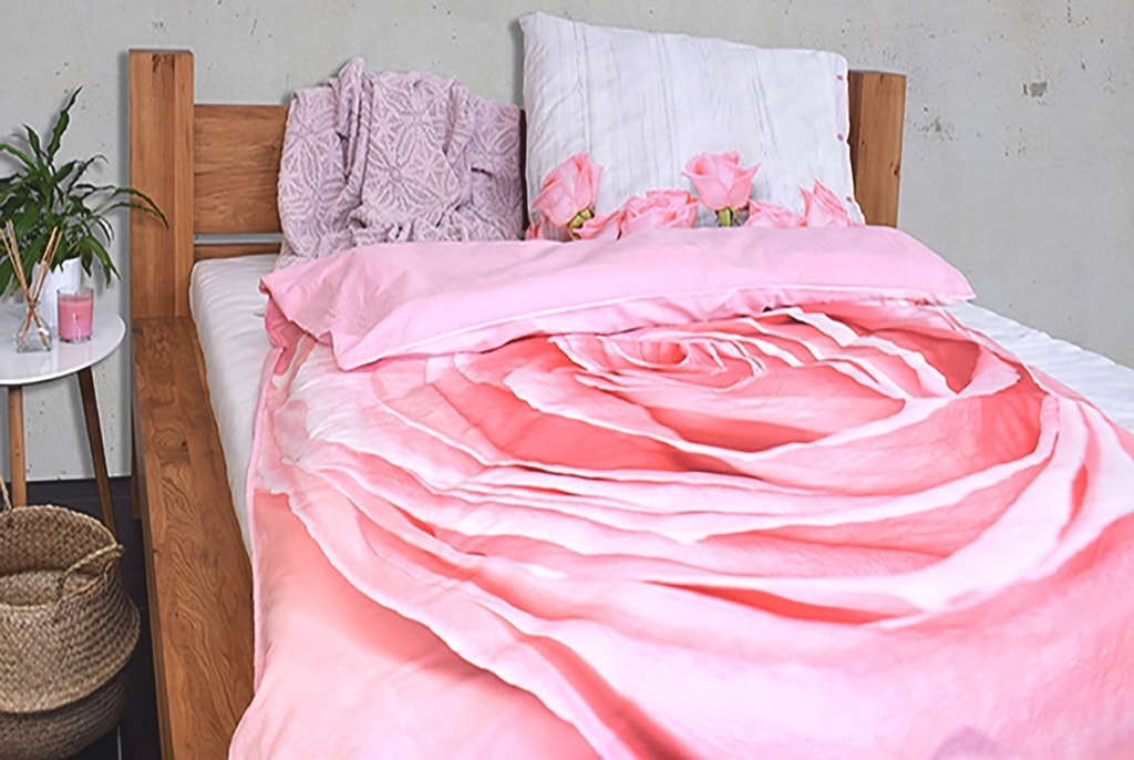 Gipetex Natural Dream 3D italské povlečení 100% bavlna Růže, digitální tisk - 140x220cm / 70x90cm