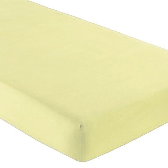 Gipetex Natural Dream Italské prostěradlo s gumičkou 100% bavlna sv.žlutá v.25cm - 90x200 cm