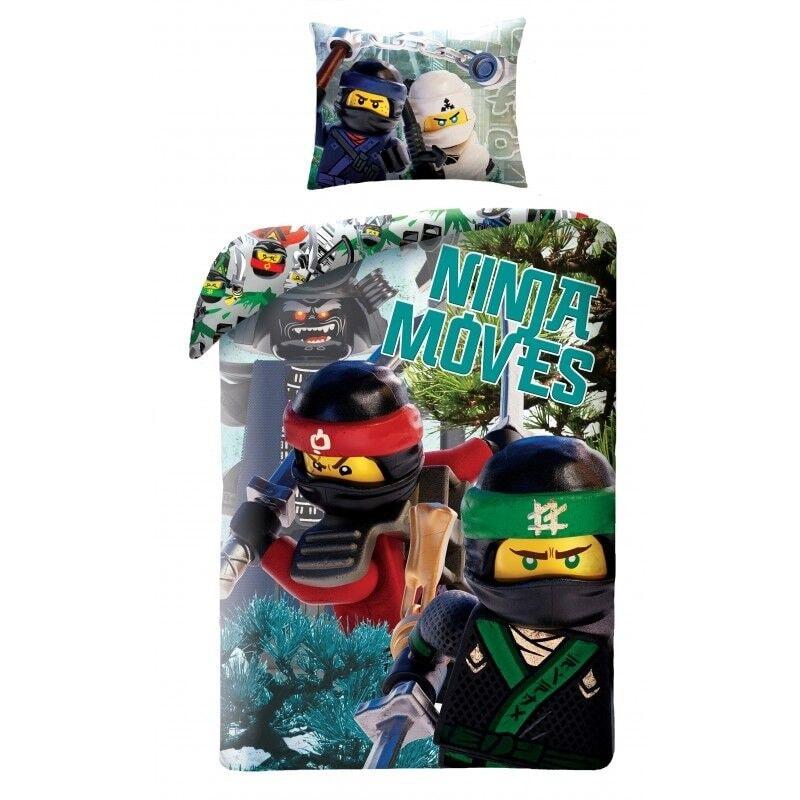 Halantex Halantex povlečení Lego Ninjago Ninja moves 140x200cm + 70x90cm