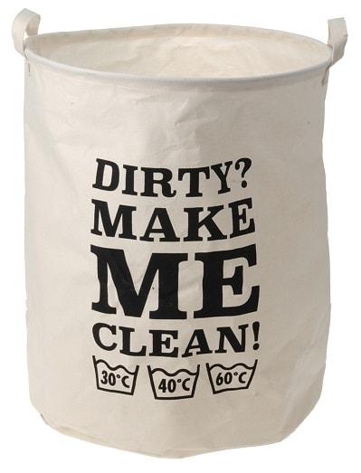 Home collection Látkový prádelní koš 40x50cm Dirty?