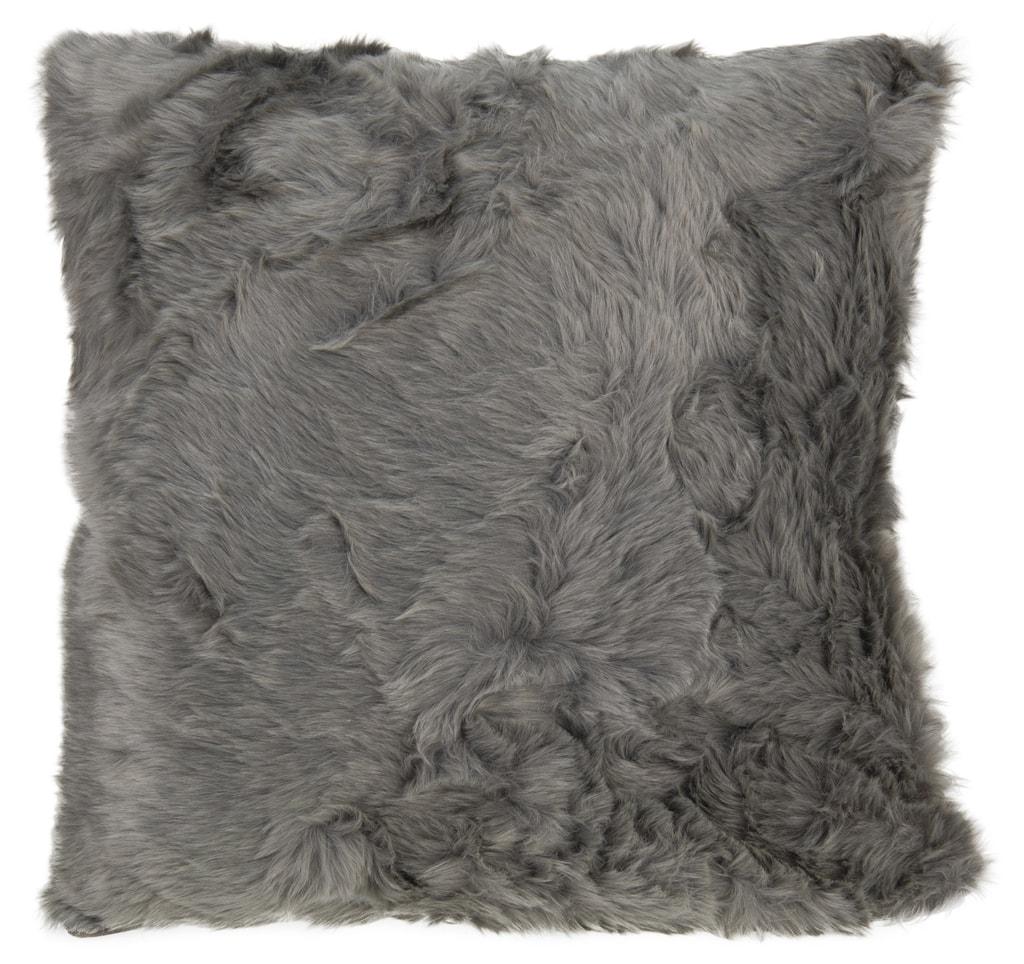 Home collection Dekorační polštářek imitace kožešiny 48x48 cm - Bílá