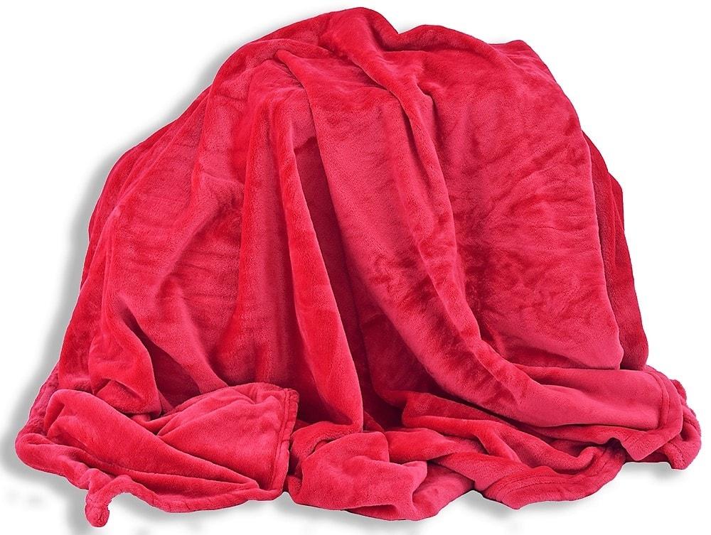 Homeville Homeville deka mikroplyš 150x200 cm červená
