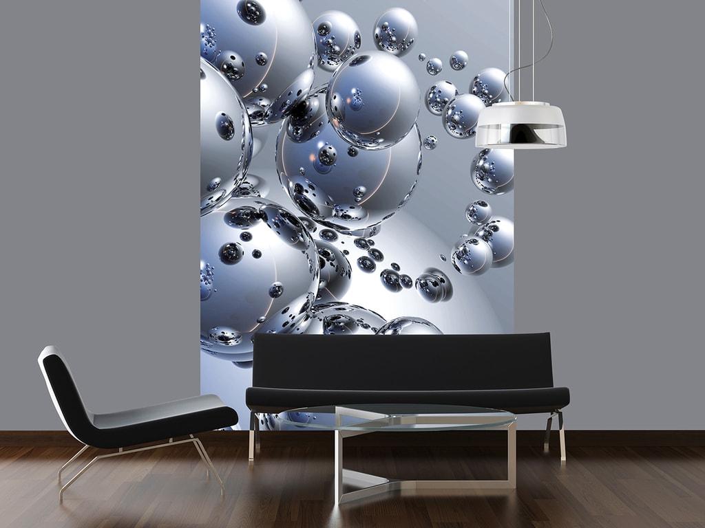 Wizard+Genius W+G fototapeta Stříbrné koule 183x254 cm