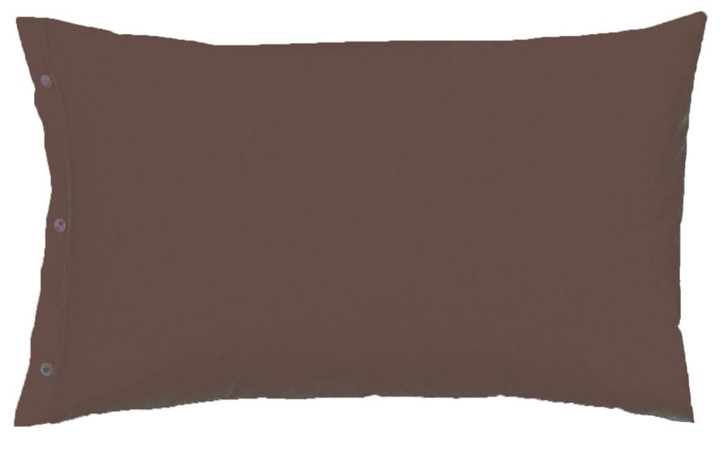 Gipetex Natural Dream Povlak na polštář italské výroby 100% bavlna - 2 ks tm.hnědá - 2 ks 70x90 cm