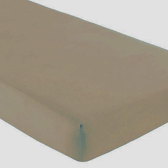 Gipetex Natural Dream Italské prostěradlo s gumičkou 100% bavlna tm.béžová v.25cm - 140x200 cm
