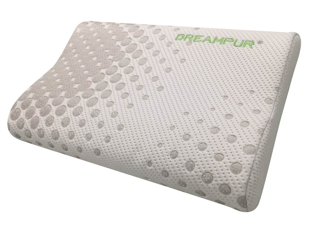 DREAMPUR Anatomický polštář DREAMPUR® z latexové pěny Grey dots profilovaný - 40x60 cm