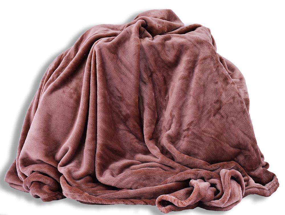 Homeville Homeville deka mikroplyš 150x200 cm světle hnědá