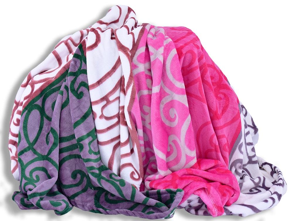 Homeville Homeville deka mikroplyš 150x200 cm ornamenty v barevných pruzích