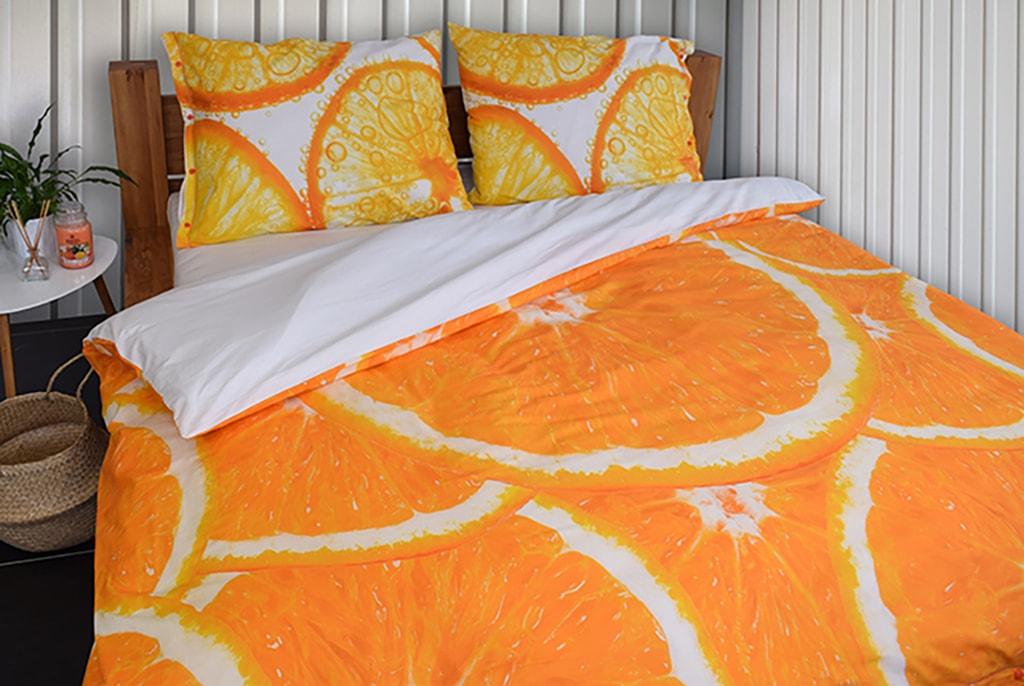Gipetex Natural Dream 3D italské povlečení 100% bavlna Pomeranč, digitální tisk - 140x220cm / 70x90cm